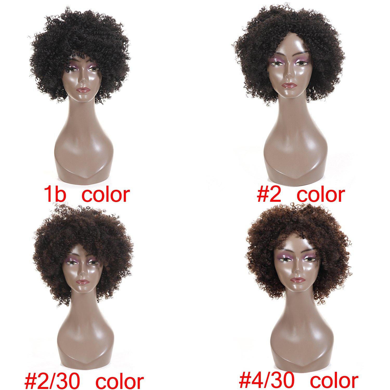 Binglinghua Lady Women Ombre Black Gray Straight Short Bob Synthetic Cosplay Wig Wigs