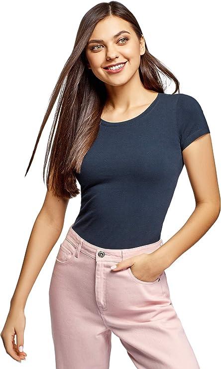 oodji Ultra Mujer Camisetas Ajustadas (Pack de 2): Amazon.es: Ropa y accesorios