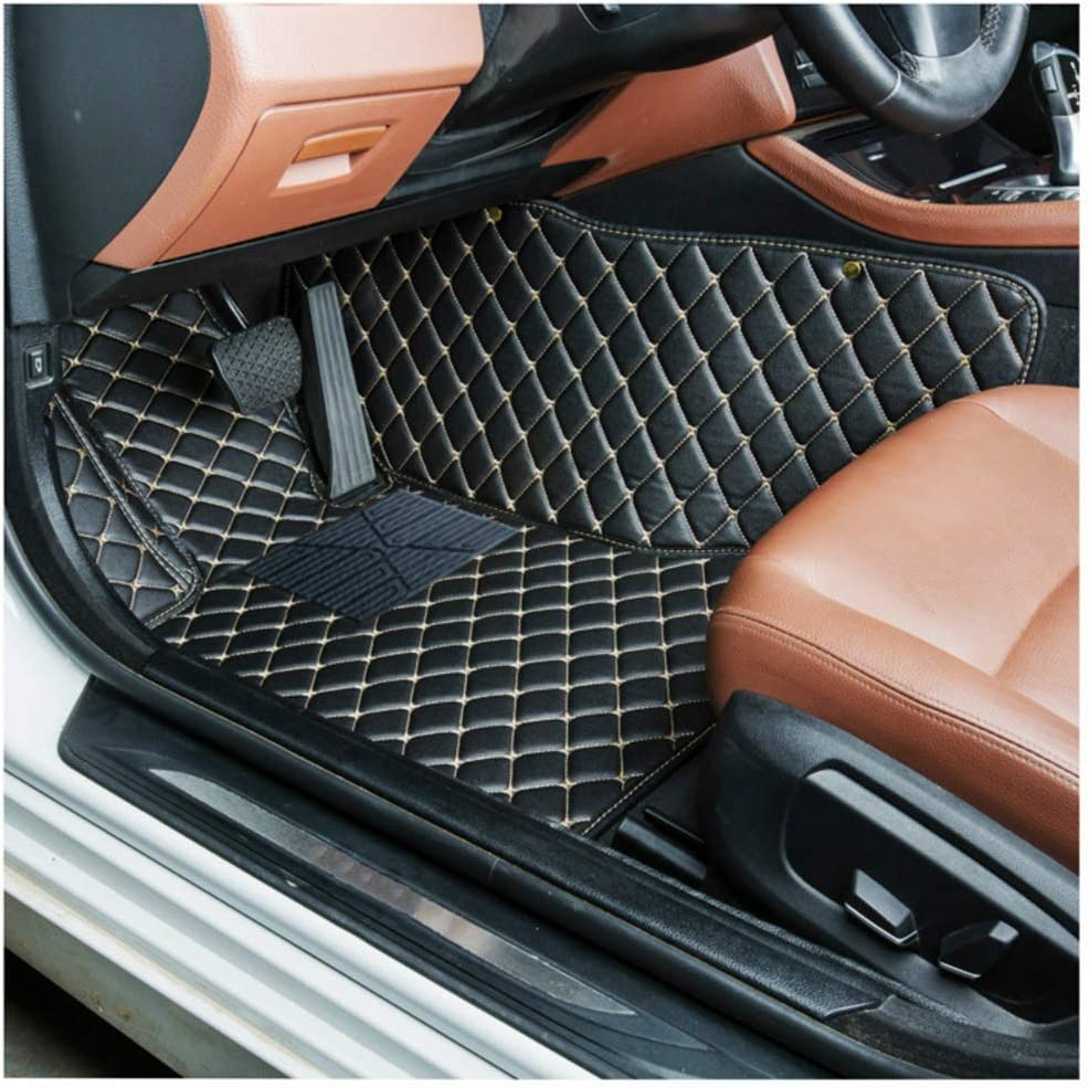 for Audi S5 2009-2016 Coupe Car Floor Mats Full Coverage All Weather Protection Waterproof Non-Slip Leather Liner Set Red