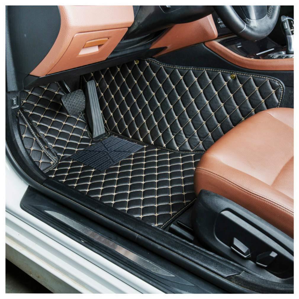 8X-SPEED Alfombra del Piso Auto Cuero Estera del Coche para Au di Q7 2006-2015 4-Seat Desgaste Antideslizante Alfombrillas Tapetes Beige