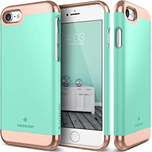 Caseology Savoy for Apple iPhone 8 Case (2017) / for iPhone 7 Case (2016) - Stylish Design - Mint Green