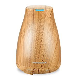 URPOWER 2nd Version Essential Oil Diffuser Aroma Essential Oil Cool Mist Humidifier with Adjustable Mist Mode, Waterless Auto Shut-off and 7 Color LED Lights Changing for Home Office Baby bedtime routine for babies Bedtime routine for babies – the ultimate guide, hack, and gadgets 71O29mTeRdL