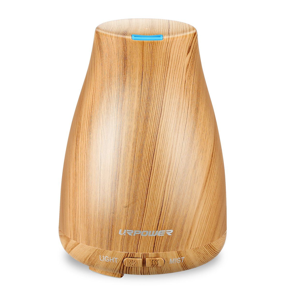 URPOWER 2nd Version Essential Oil Diffuser Aroma Essential Oil Cool Mist Humidifier with Adjustable Mist Mode, Waterless Auto Shut-off and 7 Color LED Lights Changing for Home Office Baby