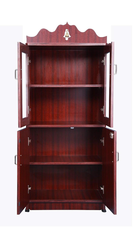Buy Hudsons Pooja Cabinetpooja Mandirhome Mandir With Glass Door