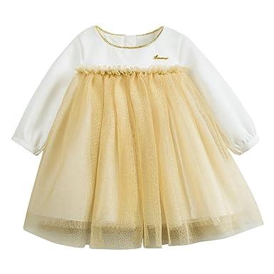 4eb062eee0a mubenshang Baby Girls Sparkly Dress Girls Playwear Dresses Toddler Girls  Pullover Dress Newborn Girl Dresses (