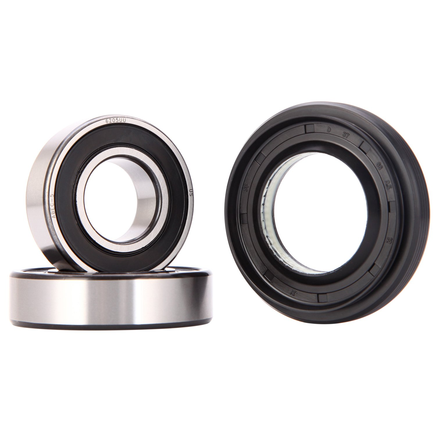 XiKe 4036ER2003A, 4280FR4048C and 4280FR4048K Front Load Washer Tub Bearing & Seal Kit Rotate Quiet and Durable, Replacement for LG and Kenmore Etc.