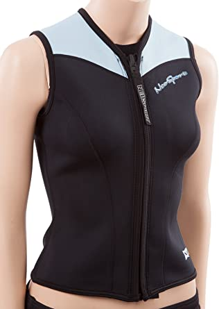 Womens Black//Teal NeoSport Mens 2.5-mm XSPAN Vest