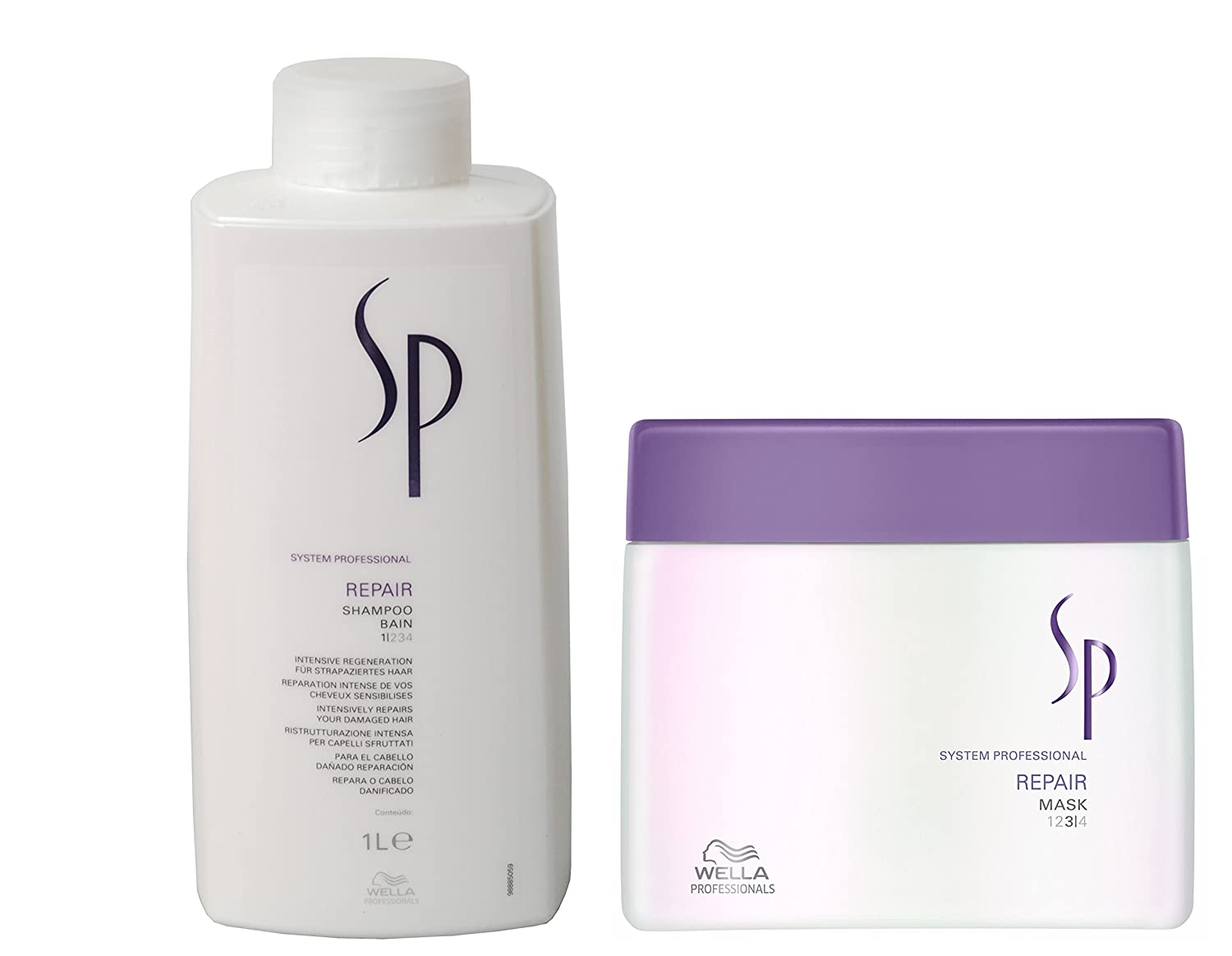 599e5aed8d42 WELLA SP REPAIR SHAMPOO 1000ml AND MASK 400ml + FREE DELIVERY