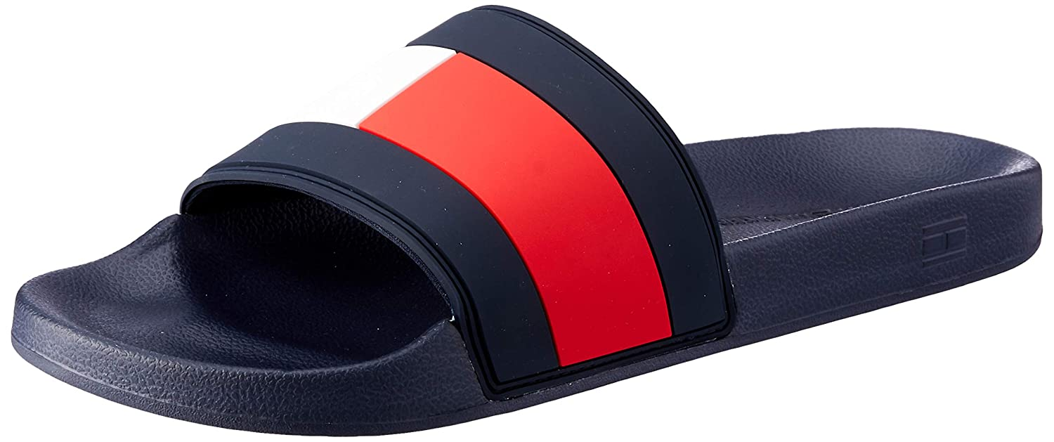 1682042bb6f4 Tommy Hilfiger Men s s Flag Pool Slide Beach   Pool Shoes  Amazon.co.uk   Shoes   Bags