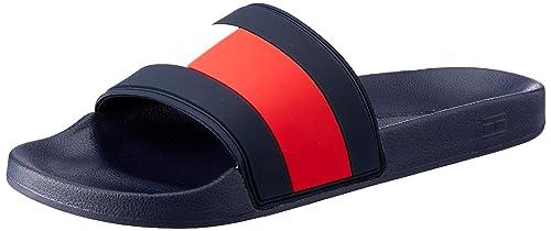 c611331b Tommy Hilfiger Men's Flag Pool Slide Beach & Pool Shoes: Amazon.co ...