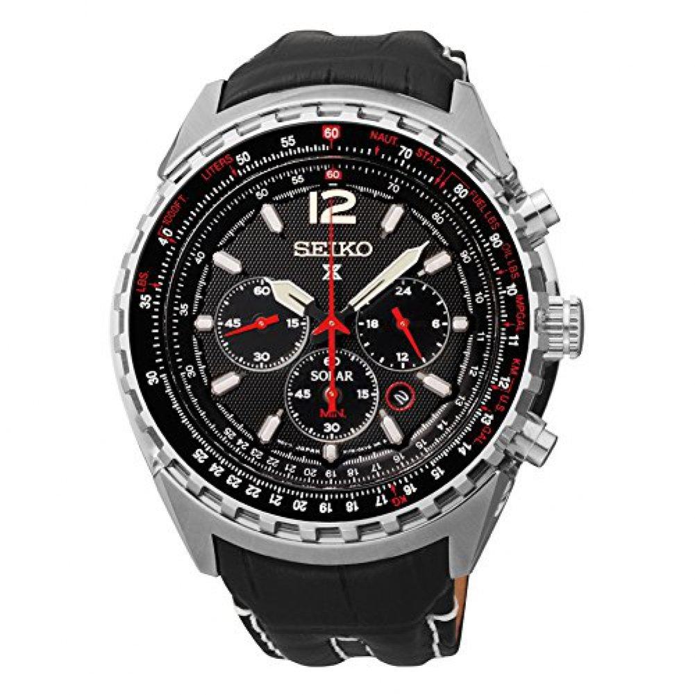 [セイコー]Seiko 腕時計 Prospex Chronograph Solar Leather 46mm SSC289 メンズ [並行輸入品] B00XKX8C6S