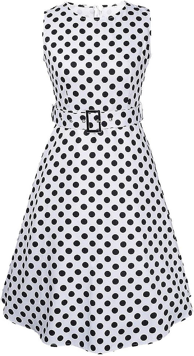 MNBS Damen Mädchen Vintage Retro Kleid 16er Jahre 16s