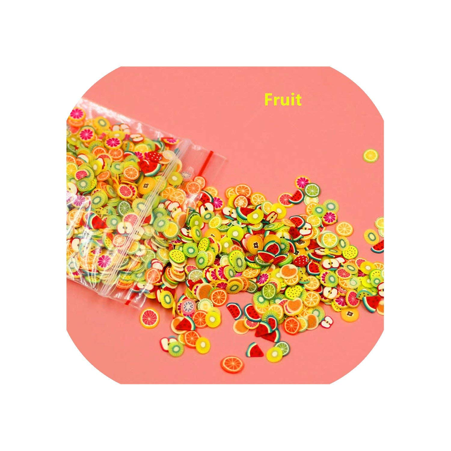 New 1000Pcs/Pack Nail Art 3D Fruit Fimo Slices Polymer Clay Diy Slice Decoration Nail Sticker Mixed Stype For Choice,Furiut by entertainment-moment