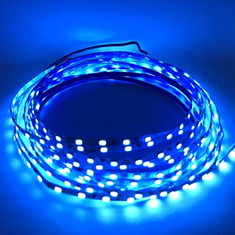 LED Light Blue Lights Under Cabinet Lighting 3mm Slim LED Strip Lights  DC12V 3014 450 LEDs
