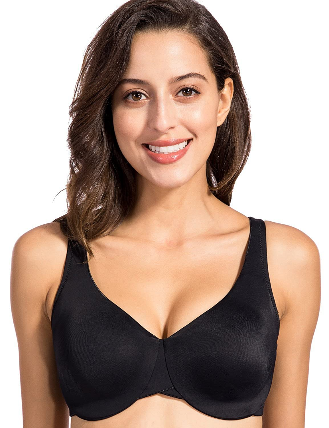 d80cf7d4be460 DELIMIRA Womens Full Coverage Underwire Non Padded Soft Seamless Minimizer  Bra