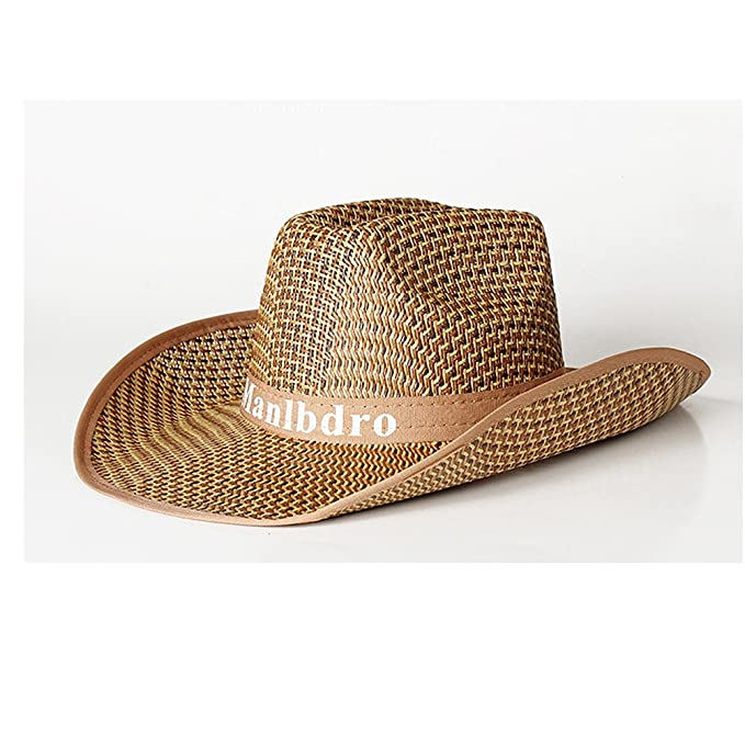 Kry Cowboy Sombrero Paja Canotier diseño de cordones hombres tapas al aire  libre sombrero de sol para pesca sombreros de la playa hombres verde caqui  Talla ... 9ce785ecaa4