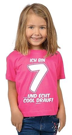 Mädchen Zum 7 Geburtstag 7 Jahre Alt T Shirt Geschenk Idee Kindergeburtstag Kindershirt Ich Bin 7 Und Echt Cool Drauf Geburtstagsgeschenk Kinder
