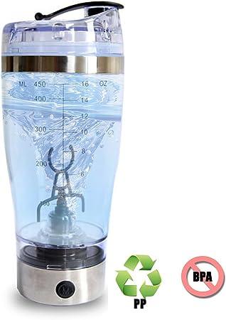 Electro-Weideworld Proteínas Shaker Botella, Vortex Mixer,450ML Shaker Coctelera,Batidora Proteínas/Creativo Automático & Eléctrico Vortex Mixer BPA ...