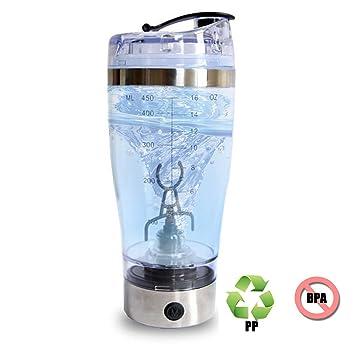 Electro-Weideworld Proteínas Shaker Botella, Vortex Mixer,450ML Shaker Coctelera,Batidora Proteínas