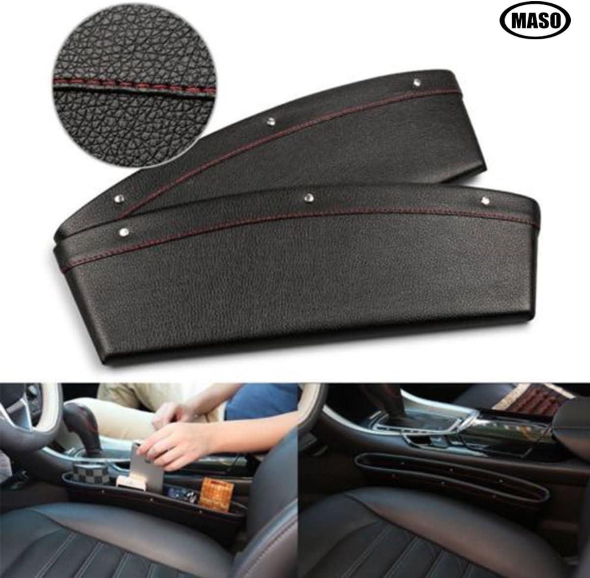 Car Gap Seat Pocket Organizer /& Filler for Car Seat Crevice Storage Holding Phone Sunglasses Keys Cards Pens Coins pengxiaomei 2Pcs Car Pocket Organizer Black