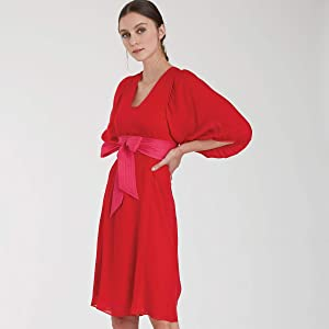 Simplicity Sewing Pattern R10507 / S9098 - Misses' Dress & Top with Tie Belt by Cynthia Rowley, Size: U5 (16-18-20-22-24)