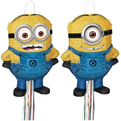 Unique Despicable Me 3D Pull Pinata Assortment, 4 Ct.: Toys & Games