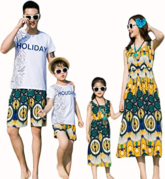 Mother and Daughter Parent-child Summer Clothes Girl Tops Outfit Family Matching