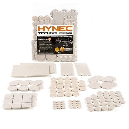 Fieltro adhesivo protector de goma para patas de mesa y muebles Hynec Technologies (Tamaño Grande Color Beige)  almohadillas para muebles y sillas ...