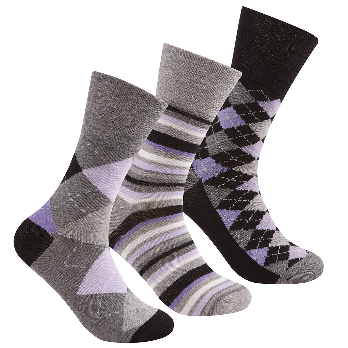 Ladies Non Elastic Loose Top Socks /(6 or 12 Pair Multipack/) Gentle ...