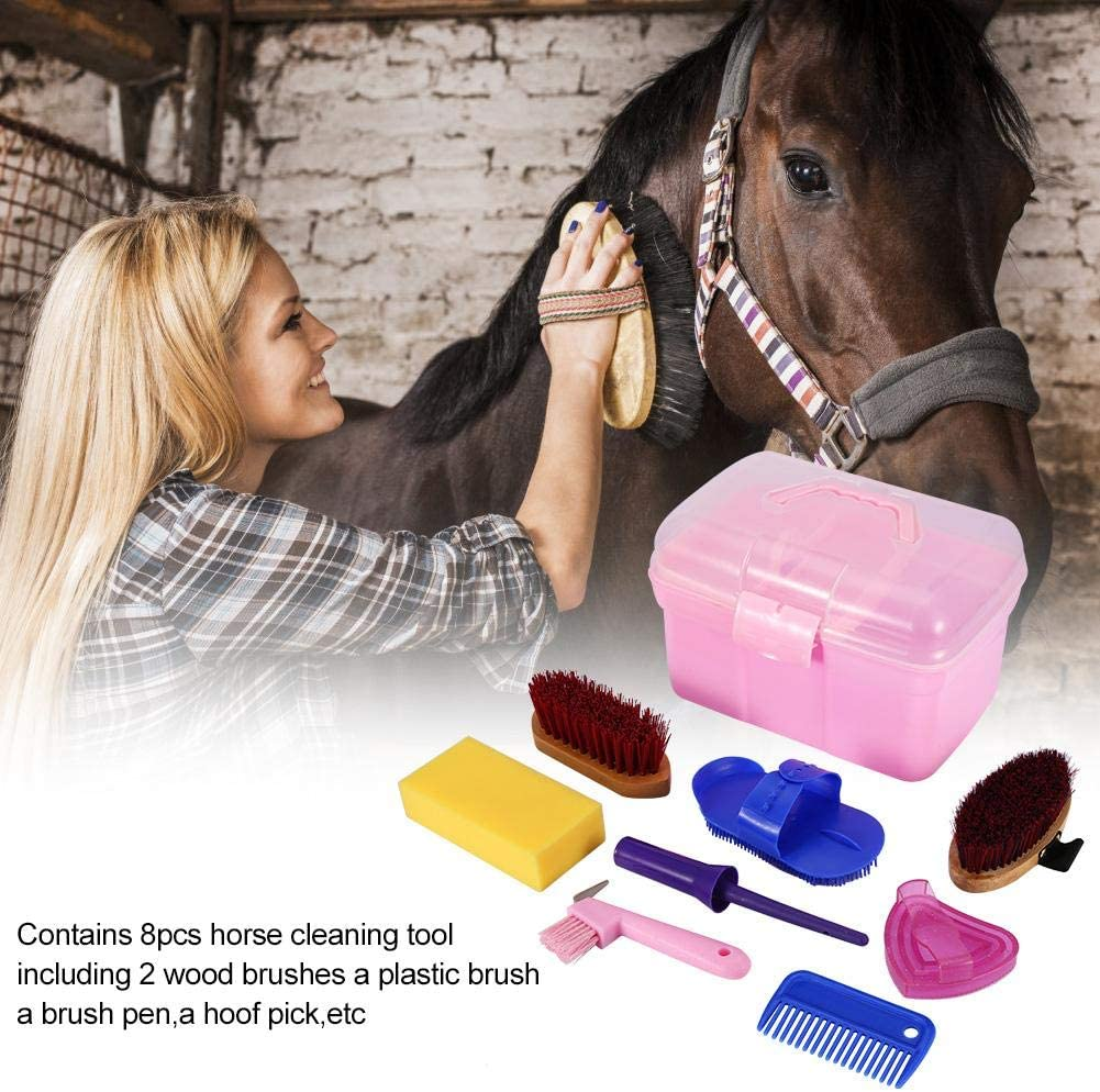 Professional Horse Cleaning Grooming Silicone Brush Durable Lightweight Easy to Operate Equestrian Massage Tool