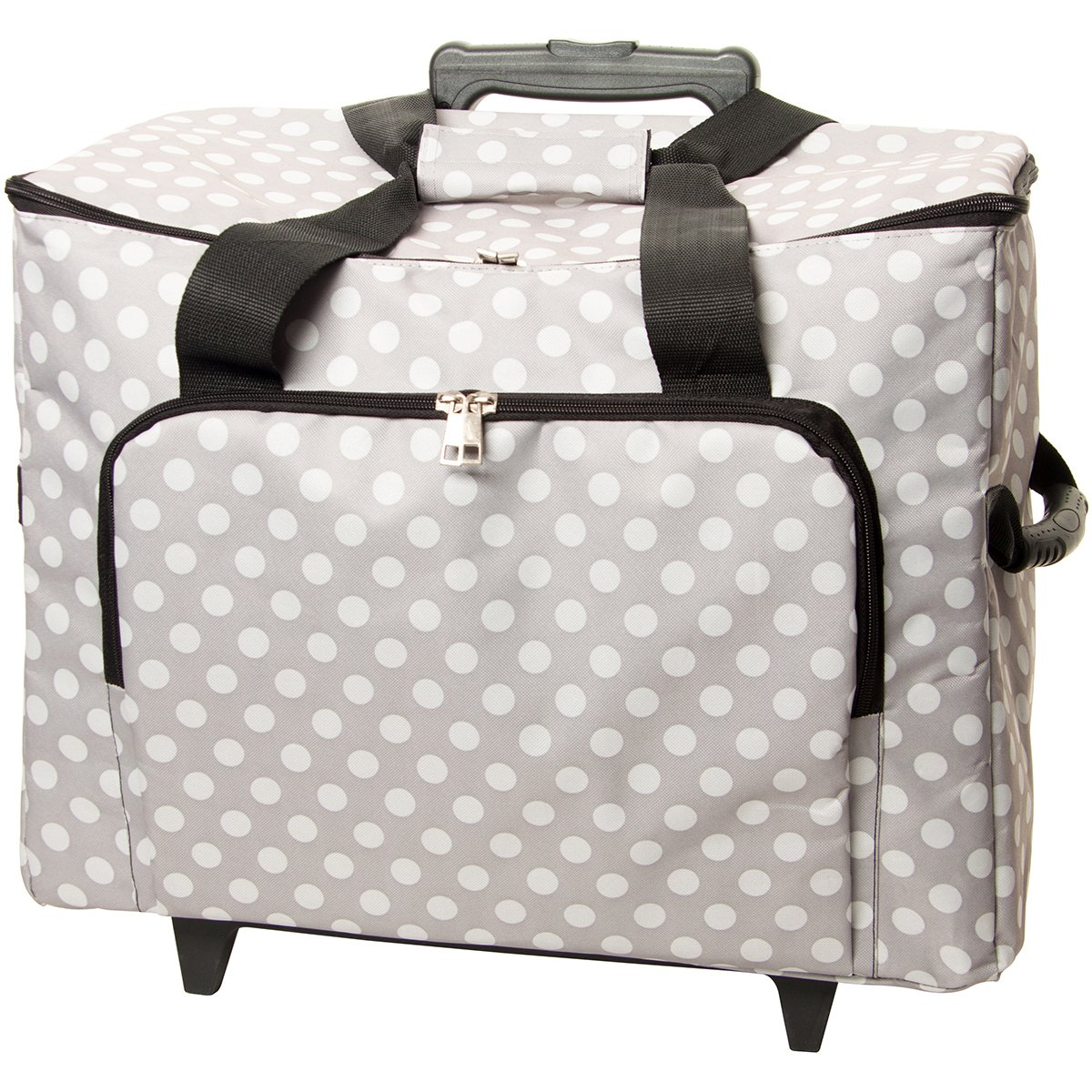 Tacony Corporation Sewing Machine Trolley, 17' by 13' by 19', Gray with White Polka Dots 17 by 13 by 19 MRTB008