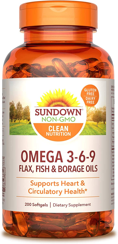 Amazon Com Sundown Triple Omega 3 6 9 Heart And Circulatory