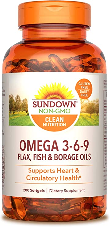 Amazon Com Sundown Triple Omega 3 6 9 Heart And Circulatory