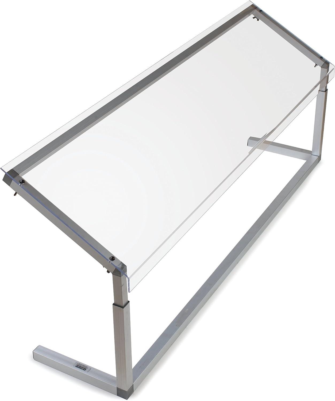 Carlisle 926007 Acrylic Adjustable Single Sided Sneeze Guard with Aluminum Frame, 60.25