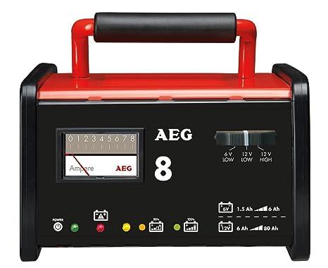 AEG 97008 Cargador de taller WM 8 Amperios para baterías de ...