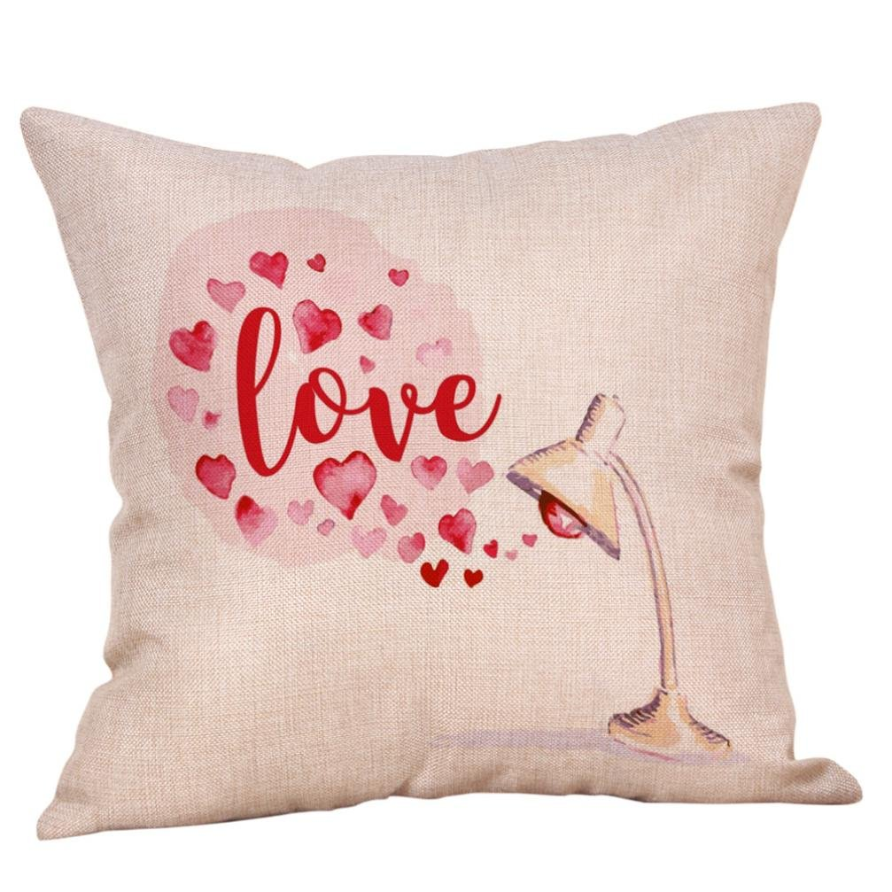 Cojín, resplend accesorios alegres San Valentín dulce amor ...