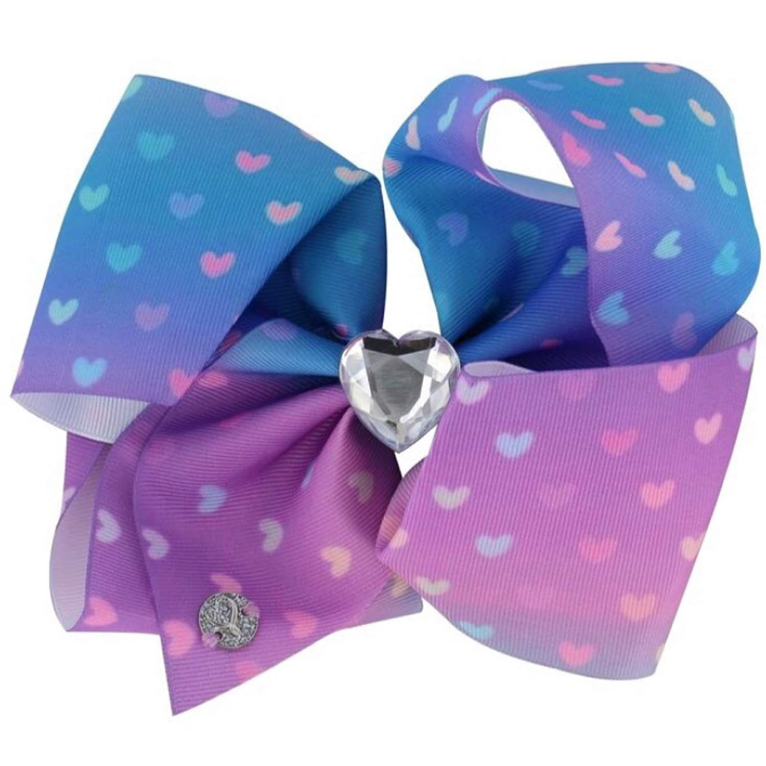 8 Inch JOJO SIWA Large Hair Bow Rainbow Valentine/'s Day Love Printed Hairclip