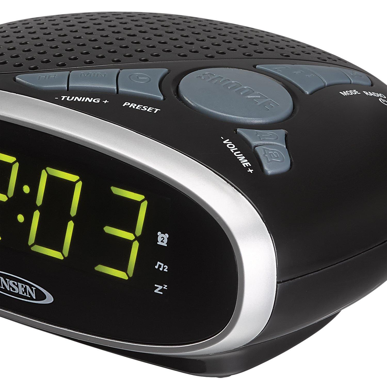 amazon com jensen jcr175 am fm alarm clock radio with 0 9 inch rh amazon com