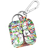 Fintie Tile Mate/Sport/Style Case with Carabiner Keychain, Anti-Scratch Vegan Leather Protective Skin Cover for Tile Mate (2016 Release), Tile Sport, Tile Style Key Finder Phone Finder, Love Tree