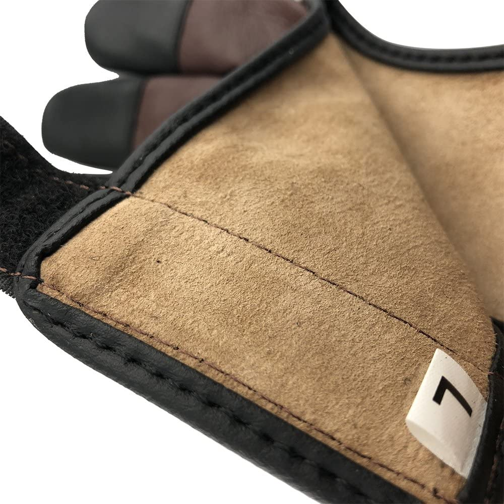 Longbowmaker Archery Glove 3 Finger guard Cow Leather Shooting Protective Gear for Left and Right Hand Archer