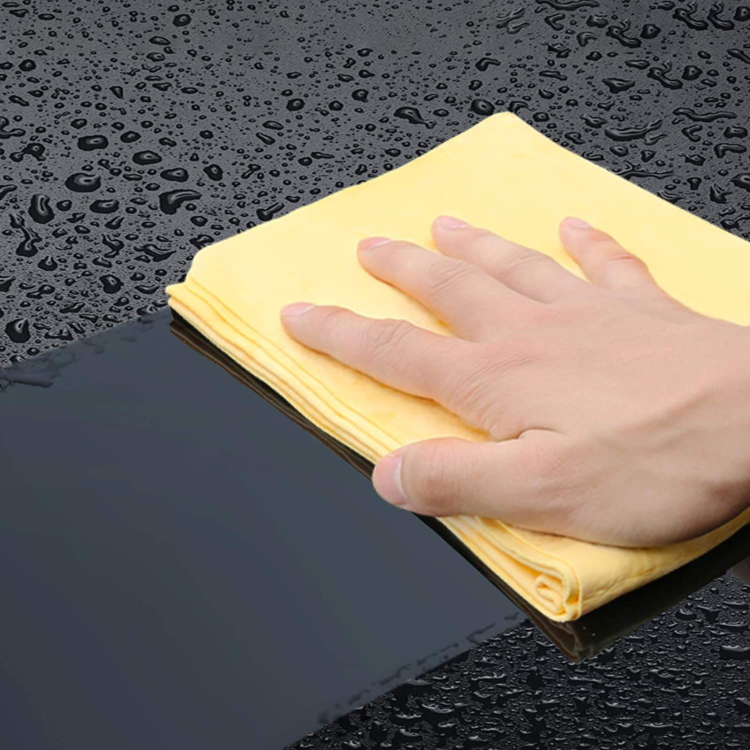 HOTOR Car Drying Towel for Car Wash 26 x 17 Durable and Multipurpose PVA Shammy Cloth for Car Dusting Drying and Detailing Super Absorbent Chamois Cloth for Car with Quick Dry Design