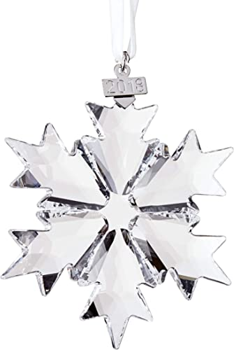 Amazon.com: Swarovski Annual Edition 2018 Christmas Ornament, Clear ...