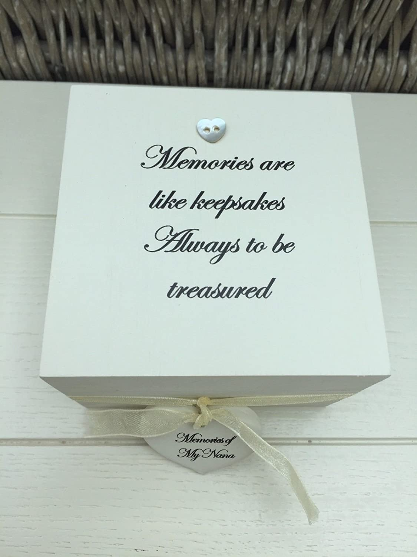 Shabby Personalised Chic In Memory Of Loved One Keepsake Box Mum Dad Nana Etc