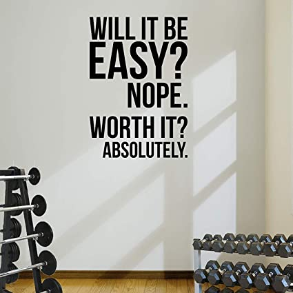 Amazon.com: DesignDivil Worth It? Gym Motivational Quote ...