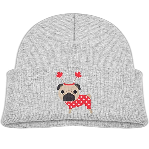 543778510d3 hanfjj kefdk Knitted Hat Cute Canadian Pug Youth Beanies Caps Unisex Baby  Warm