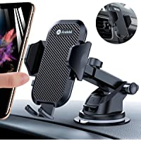 Andobil Car Phone Mount Easy Clamp, Ultimate Hands-Free Phone Holder for Car Dashboard Air Vent Windshield, Super Suction Cup, Compatible for iPhone 11/11 Pro/8 Plus/8/X/XR/XS/7 Plus Samsung S10/S9/S8
