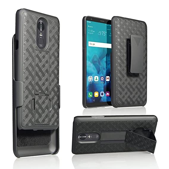 sale retailer 13f78 eb5b1 LG Stylo 4 Case,Belt Clip Holster Dual Layer Hybrid Shock Absorbing Resist  Kickstand Armor Phone Case Cover for LG Stylo 4 2018