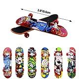 HEHALI 12pcs Matte Metal Finger Skateboards