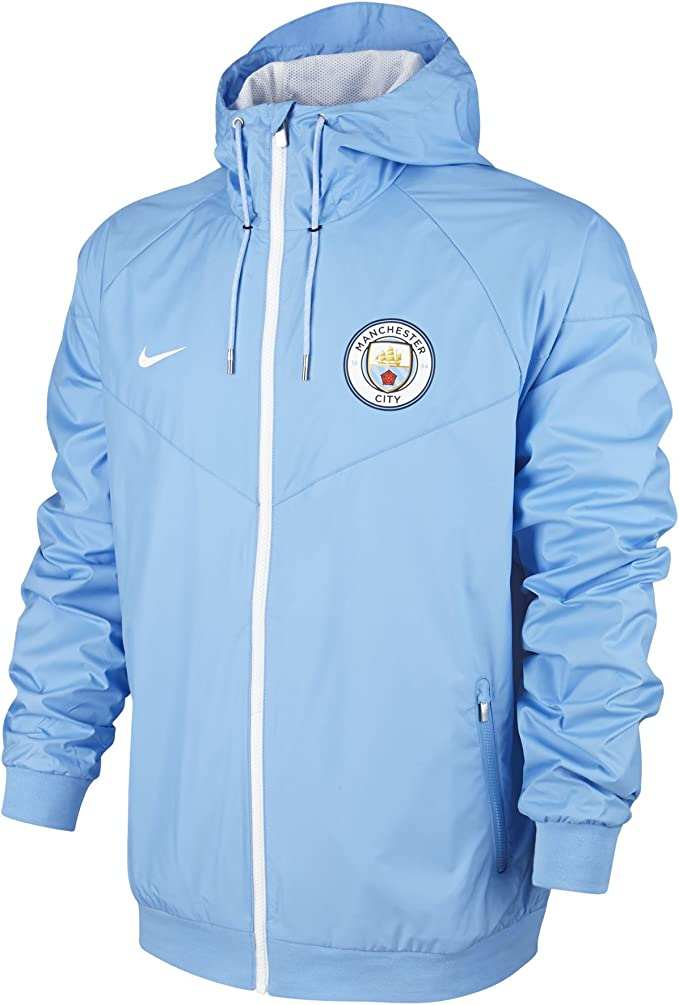 2016 2017 Man City Nike Authentic Windrunner Jacket (Blue)