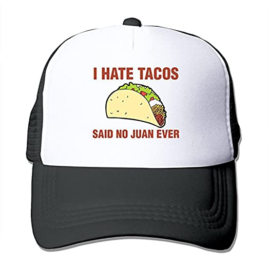 1ac5308d5a9ee ZMvise I Hate Tacos Said No Juan Ever Funny Gift Trucker Hat Street Dancing Baseball  Cap